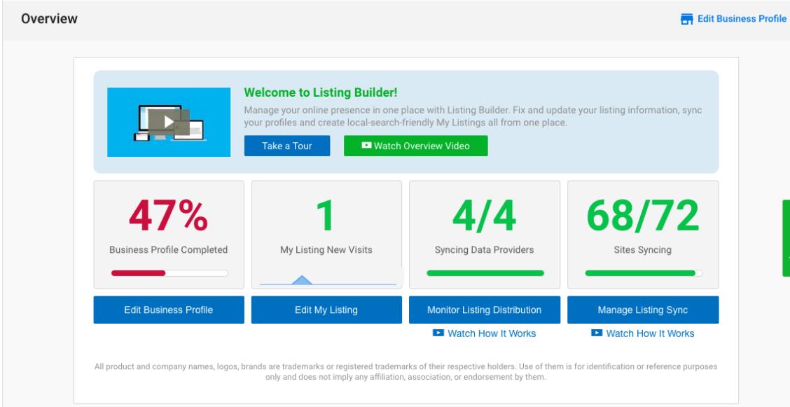 online listings dashboard